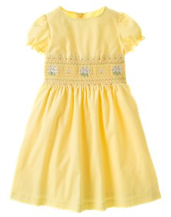 Kid Girl Smocked Woven Party Dress