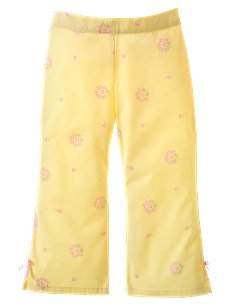 Kid Girl Floral Woven Pant