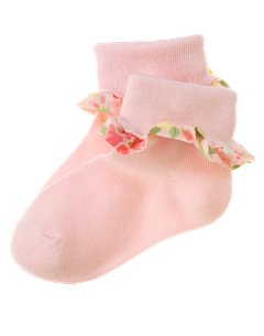Baby Girl Floral Ruffle Sock