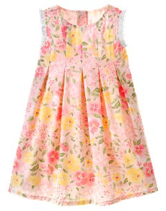 Baby Girl Pleated Floral Dress