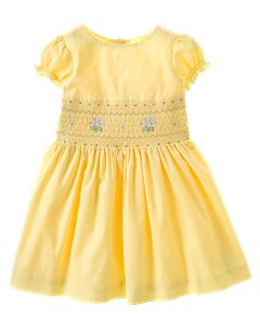 Baby Girl Smocked Woven Party Dress