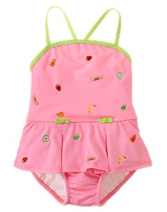 Embroidered Fruit One-Piece Swimsuit