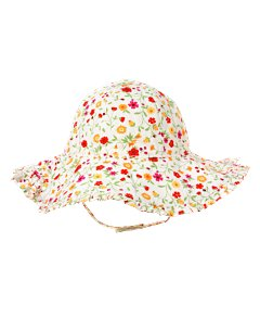 Ruffled Floral Sun Hat