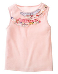 Sleeveless Ruffle Neck Tee