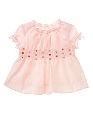 Flower Smocked Bubble Top