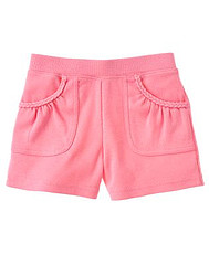 Morning Glory Pink Braided Pocket Knit Short