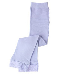 Blue Opal Lace Cuff Footless Tight