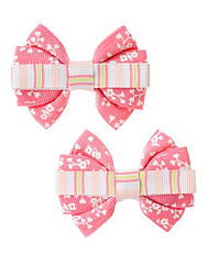 Grosgrain Ribbon Bow Clip Two-Pack