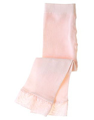 Barely Pink Lace Cuff Footless Tight BG