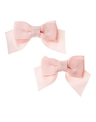 Barely Pink Bow Clip Two-Pack