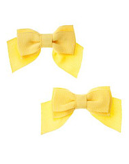 Yellow Bow Clip Two-Pack