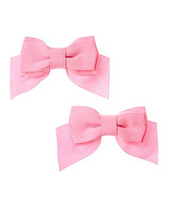 Prism Pink Bow Clip Two-Pack
