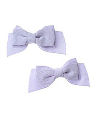 Blue Opal Bow Clip Two-Pack