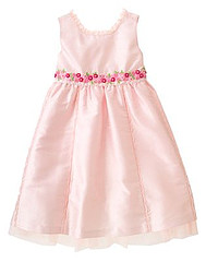 Kid Girl Embroidered Silk Dress