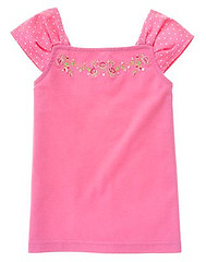 Kid Girl Embroidered Rose Top