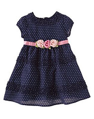 Baby Girl Rose Corsage Dress