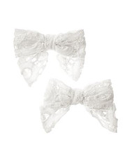 Eyelet Bow Clip Two-Pack