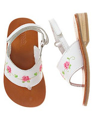 Baby Girl Embroidered Rose Sandal