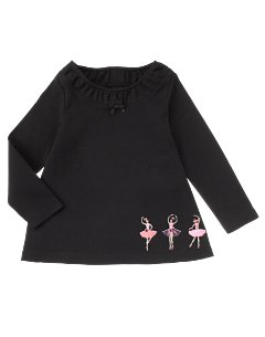 Long Sleeve Ballerina Hem A-line Top