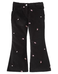 Embroidered Ballet Shoe Flare Pant