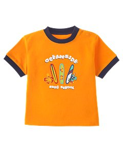 Orange Surf School Tee