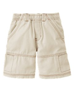Kid Boy Khaki Pull On Short