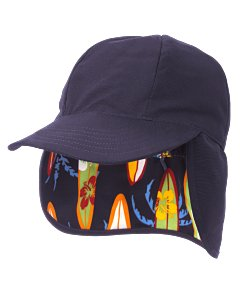 Reversible Surfboard Print Sun Hat